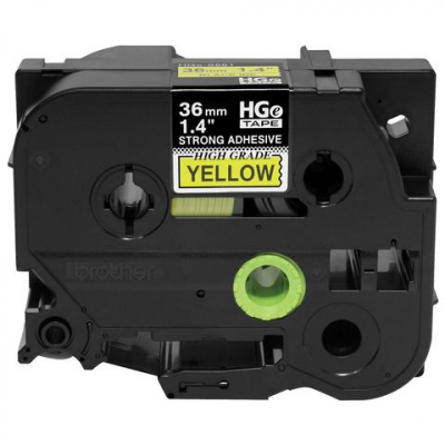 "Brother HGES6615PK Black On Yellow 1.4"" Tapes (36mm)"