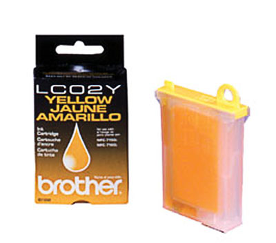 Brother LC02Y Yellow Ink Cartridge (LC-02Y)