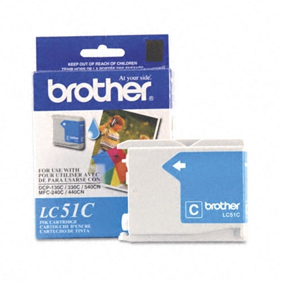 Brother LC51C Cyan Ink Cartridge (Brother LC-51C)