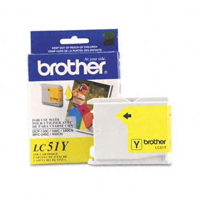 Brother LC51Y Yellow Ink Cartridge (LC-51Y)