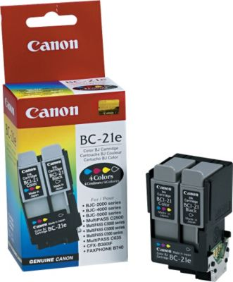 Canon BC-21E 4-Color Ink Cartridge (0899A003)