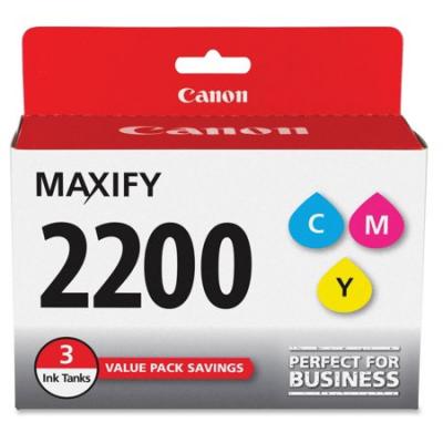 Canon 9304B005 Cyan, Magenta, Yellow 3-Pack Ink Cartridge (PGI-2200CMY)