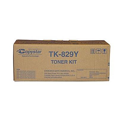 Copystar TK829Y Yellow Toner Cartridge