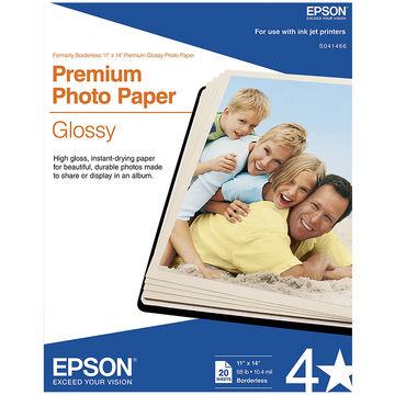 Epson S041466 Glossy 11 in. x 14 in. Premium Photo Paper