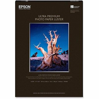 Epson S041406 Luster 11.7 in. x 16.5 in. Ultra Premium Photo Paper