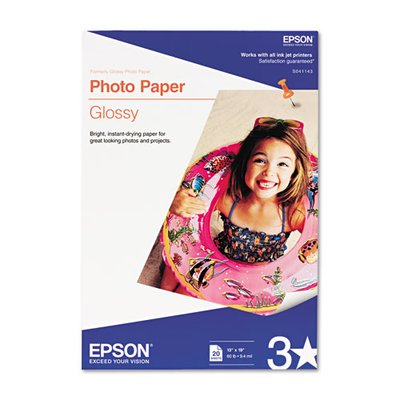 Epson S041143 Glossy 13 in. x 19 in. Photo Paper