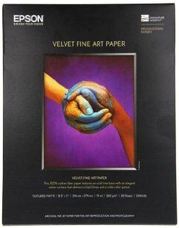 Epson S042097 17 in. x 22 in. Velvet Fine Art Paper