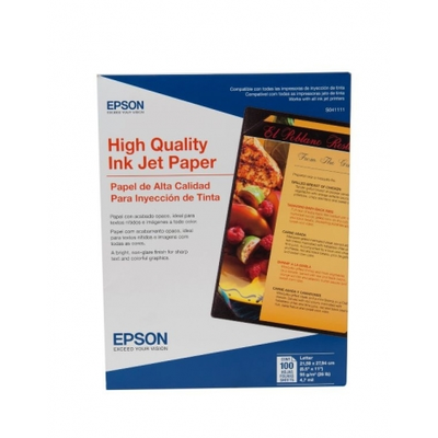Epson S041111 8.5 in. x 11 in. High Quality InkJet Paper
