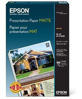 Epson S041062 Matte 8.5 in. x 11 in. Presentation Paper