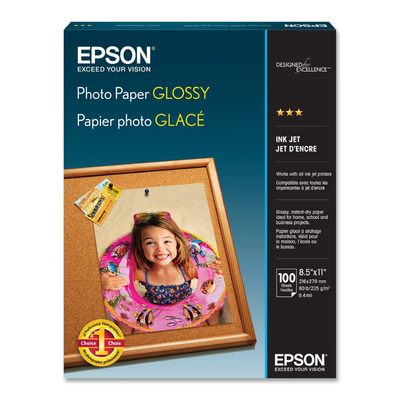 Epson S041271 Glossy 8.5 in. x 11 in. Photo Paper