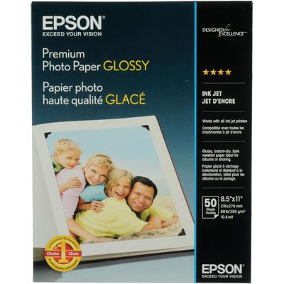 Epson S041667 Glossy 8.5 in. x 11 in. Premium Photo Paper
