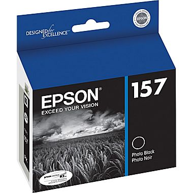 Epson T157120 Photo Black Ink Cartridge (157)
