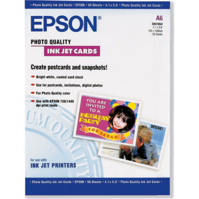 Epson S041054 4.1 x 5.8 in. Photo Cards