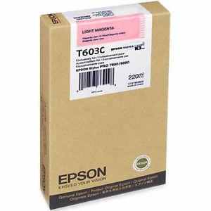 Epson T603C00 Light Magenta Ink Cartridge (T603C)
