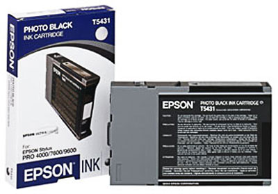 Epson T543100 Ultrachrome Black Ink Cartridge