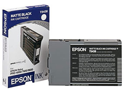 Epson T543800 Ultrachrome Matte Black Ink Cartridge