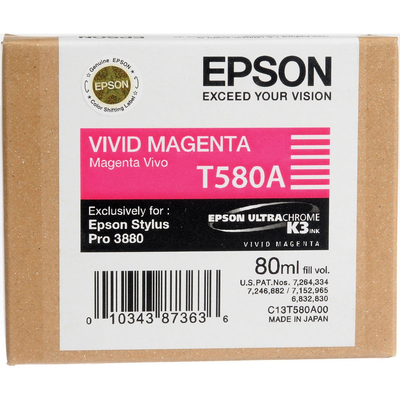 Epson T580A00 Magenta Ink Cartridge (T580A)