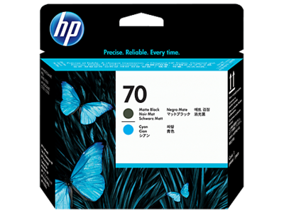HP C9404A Black/Cyan Printhead (70)
