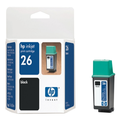 HP 51626A Black Ink Cartridge (HP 26)