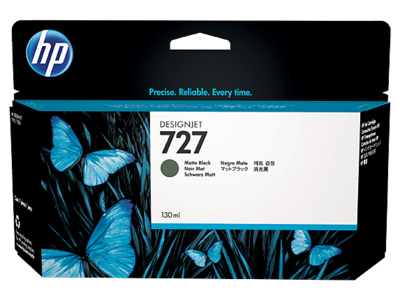 HP B3P22A Matte Black Ink Cartridge (727)