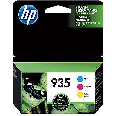 HP N9H65FN Cyan, Magenta, Yellow 3-Pack Ink Cartridge (935)