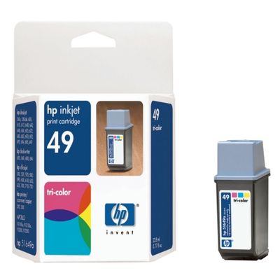 HP 51649A TriColor Ink Cartridge (HP 49)