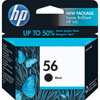 HP C6656AN Black Ink Cartridge (56)