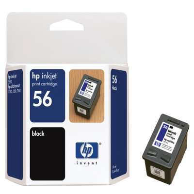 HP C6656AN Black Ink Cartridge (HP 56)