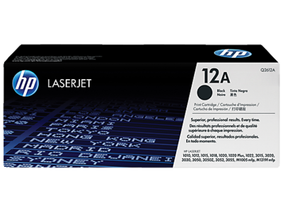 HP Q2612A Black Toner Cartridge (12A)