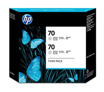 HP CB342A Light Gray 2-Pack Ink Cartridge (70)
