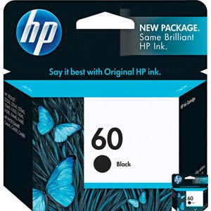 HP CC640WN Black Ink Cartridge (HP 60)