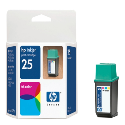 HP 51625A TriColor Ink Cartridge (25)