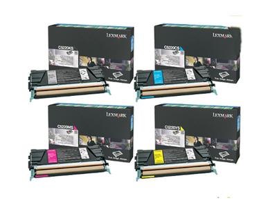 Lexmark C5220#S Cyan, Magenta, Yellow, Black Toner Cartridge Multipack