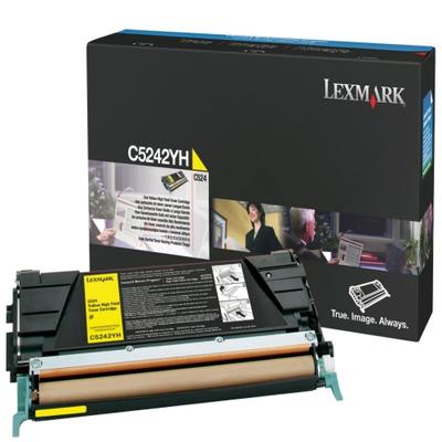 Lexmark C5242YH Yellow Toner Cartridge