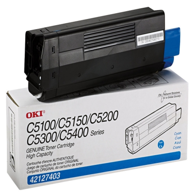 Okidata 42127403 Cyan Toner Cartridge (TYPE C6)