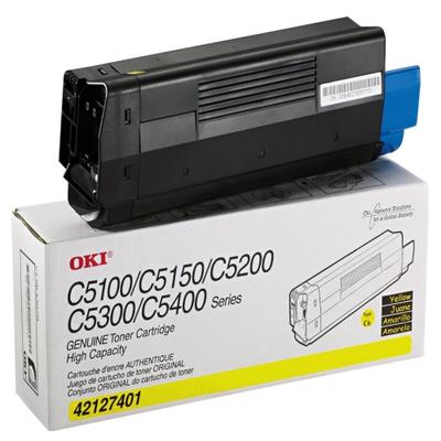 Okidata 42127401 Yellow Toner Cartridge (TYPE C6)