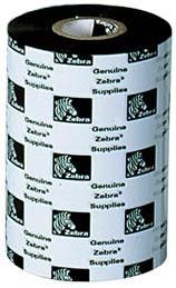 """Zebra 06000BK11045 Ribbon Wax (4.33"""" x 1476' Roll) (1"""" Core)"""