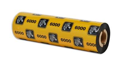 """Zebra 06000GS11007 Ribbon Wax (4.33"""" x 244' Roll) (0.5"""" Core)"""