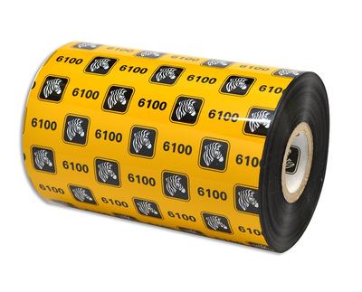 "Zebra 06100BK11045 Ribbon Wax/Resin (4.33"" x 1476' Roll) (1"" Core)"