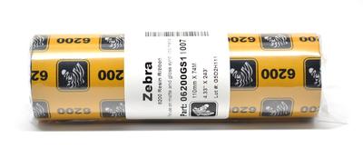 "Zebra 06200GS11007 Ribbon Resin (4.33"" x 244' Roll) (0.5"" Core)"