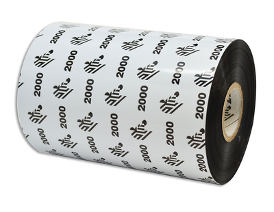 """Zebra 02000BK11045 Ribbon Wax (4.33"""" x 1476' Roll) (1"""" Core)"""