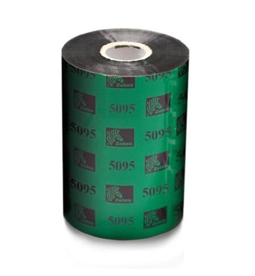 "Zebra 05095BK11045 Ribbon Resin (4.33"" x 1476' Roll) (1"" Core)"