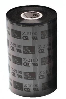 "Zebra 02100BK15645 Ribbon Wax (6.14"" x 1476') (1"" Core)"