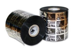 "Zebra 03200BK04045 Ribbon Wax/Resin (1.57"" x 1476') (1"" Core)"