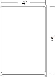 "Zebra 10015366 Label Paper (4"" x 6"") (FF Core)"