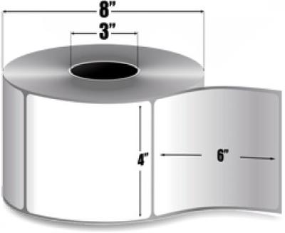 "Zebra 10000281 Label Paper (4"" x 6"") (3"" Core)"