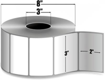 "Zebra 10000295 Label Paper (3"" x 2"") (3"" Core)"