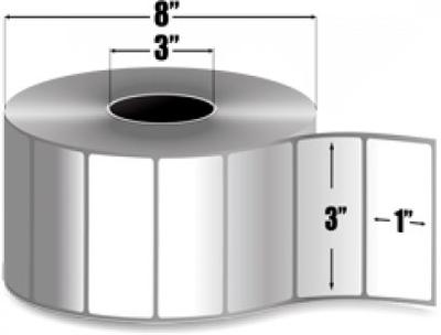 "Zebra 10000296 Label Paper (3"" x 1"") (3"" Core)"