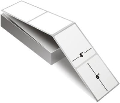 "Zebra 10000299 Label Paper (4"" x 6"") (3"" Core)"