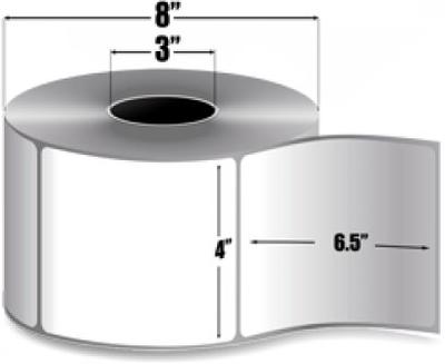 "Zebra 10000300 Label Paper (4"" x 6.5"") (3"" Core)"